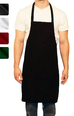 Commercial Restaurant Kitchen Chef Bib Aprons - Linteum Textile Supply