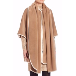 Akris Punto  - Contrast Piping Wool & Cashmere Cape