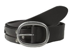 John Varvatos - Leather Belt w/ Harn Buckle and Stud