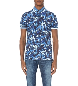 Etro - Floral-Print Cotton-Piqué Polo Shirt