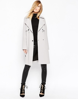Asos - Bonded Cloth Trench Coat