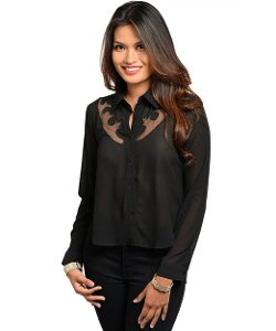 2LUV - Western Inspired Cut Out Shirt