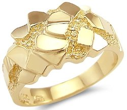 Sonia Jewels - Mens Nugget Band Ring