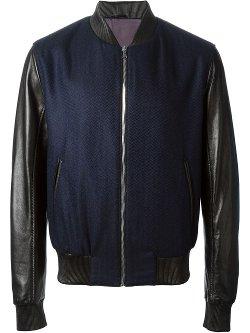Avellaneda  - Contrasting Sleeves Bomber Jacket