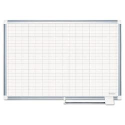 MasterVision - 48 x 36 in. Grid Platinum Dry Erase Board