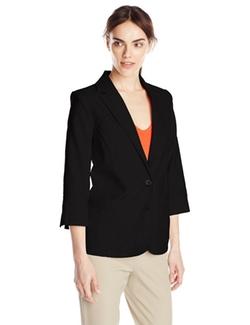 Sag Harbor - Patch Pocket Linen Look Jacket