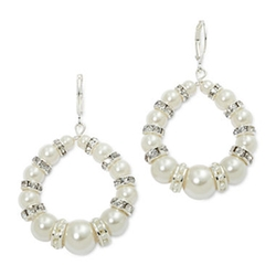 Vieste - Pearl & Crystal Hoop Earrings