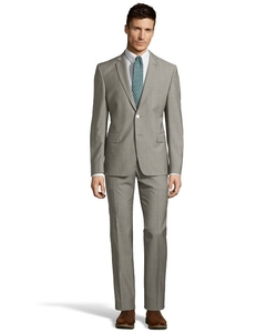 Versace  - Pindot Square Dots Two-Piece Wool Suit
