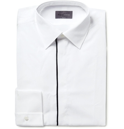 Kilgour - Contrast-Tipped Cotton Shirt