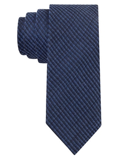 Calvin Klein  - Silk-blend Textured Stripe Tie