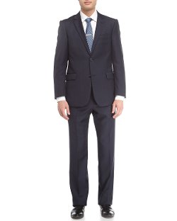 Neiman Marcus  - Textured Wool Twill Modern-Fit Suit