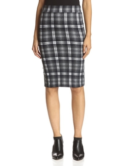 Bishop & Young - Check Plaid Pencil Skirt