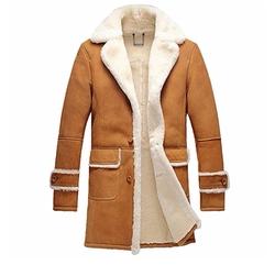 Cwmalls  - Shearling Sheepskin Trench Coat