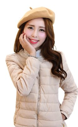 Alionz  - Collar Pearls Quilted Jacket