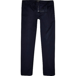 River Island - Midnight Blue Skinny Chino Pants
