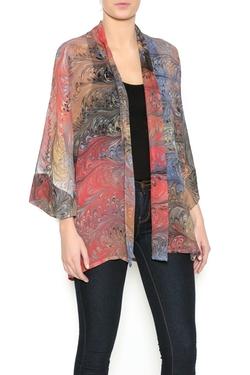 Marbled Originals - Print Kimono Cardigan