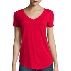 Stylus - Relaxed Fit Slub V-Neck T-Shirt