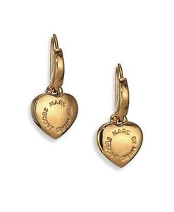 Marc by Marc Jacobs  - All Stars Logo Heart Drop Earrings