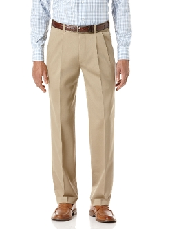 Perry Ellis - Modern Fit Twill Pleated Portfolio Pant