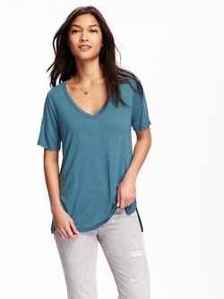 Old-Navy - Relaxed Drapey V-Neck Tee