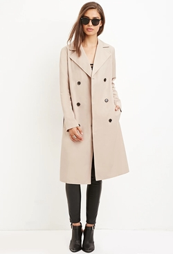 Forever21 - Cotton-Blend Trench Coat