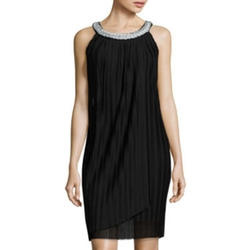 DN Collection  - Sleeveless Pleated Sheath Dress