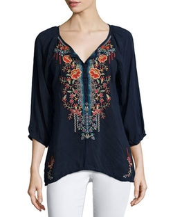 Johnny Was Collection  - Olivia Embroidered Blouse