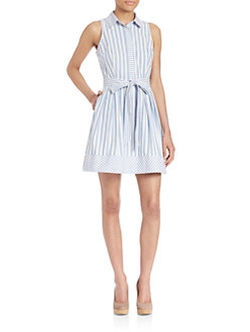 Milly - Breton Striped Shirt Dress