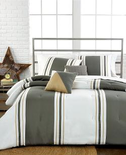 Closeout! - Preston Olive 4 Piece Twin Comforter