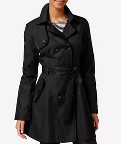 Betsey Johnson - Skirted Corset-Back Raincoat