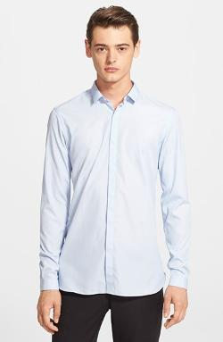 Slate & Stone - Light Blue Oxford Button Front Shirt