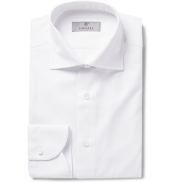 Canali - Slim-Fit Cotton-Twill Shirt