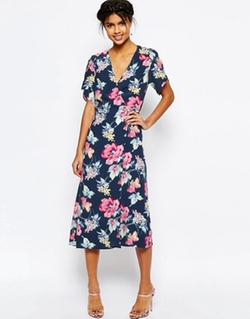 Asos - Floral Midi Tea Dress