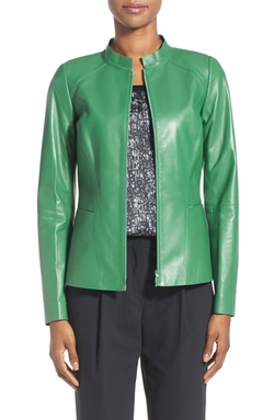 Lafayette 148 New York - Lambskin Leather Jacket