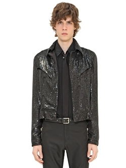 Costume National - Sequined Leather Jacket