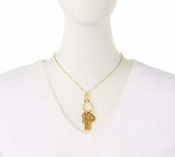 Badgley Mischka - I Love You Talisman Charm Necklace