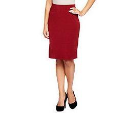 Susan Graver  - Milano Knit Knee Length Skirt