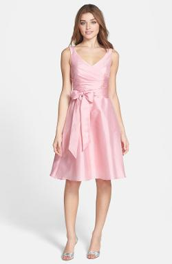 Alfred Sung  - Satin Fit & Flare Dress