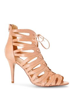 Nine West  - Natural Determine Cage Sandals