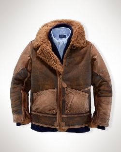 Ralph Lauren - Shearling-Lined Leather Jacket