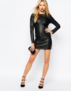 Missguided - Croc Effect Mini Dress