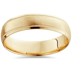 Pompeii3 Inc. - Mens Brushed Wedding Band
