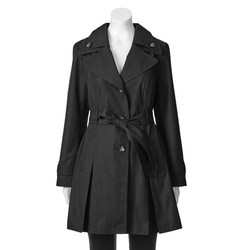 Towne by London Fog - Belted Trench Raincoat