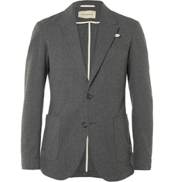 Oliver Spencer - Unstructured Cotton-Flannel Blazer
