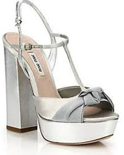 Miu Miu - Knotted Metallic Leather T-Strap Sandals