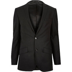 River Island - Linen-Blend Skinny Suit Jacket