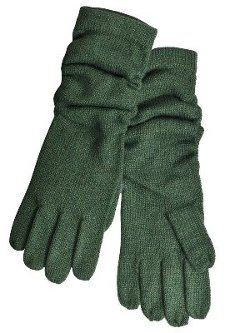 Merona  - Womens Long Green Ruched Knit Gloves