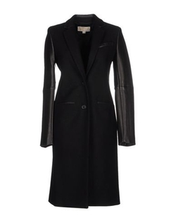 Michael Michael Kors - Leather Sleeved Coat
