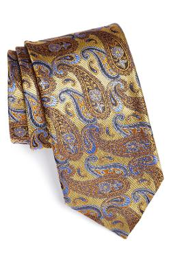 Canali  - Paisley Woven Silk Tie