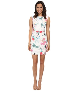 French Connection  - Floral Reef Cotton Cap Sleeve Dress